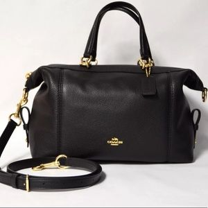 Authentic COACH pebbled leather satchel/Crossbody